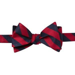 Jos. A. Bank 100% Silk Striped Bow Tie